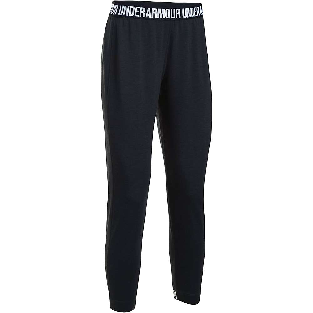 Under Armour Women's UA Featherweight Fleece Pant - Small - Black / Black / White
