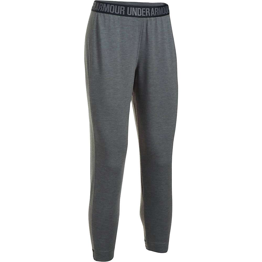 Under Armour Women's UA Featherweight Fleece Pant - Small - Carbon Heather / Black / Graphite