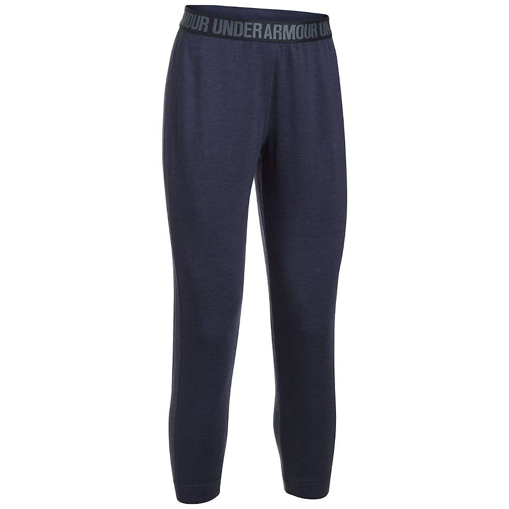 Under Armour Women's UA Featherweight Fleece Pant - Small - Midnight Navy Heather / Black / Midnight Navy