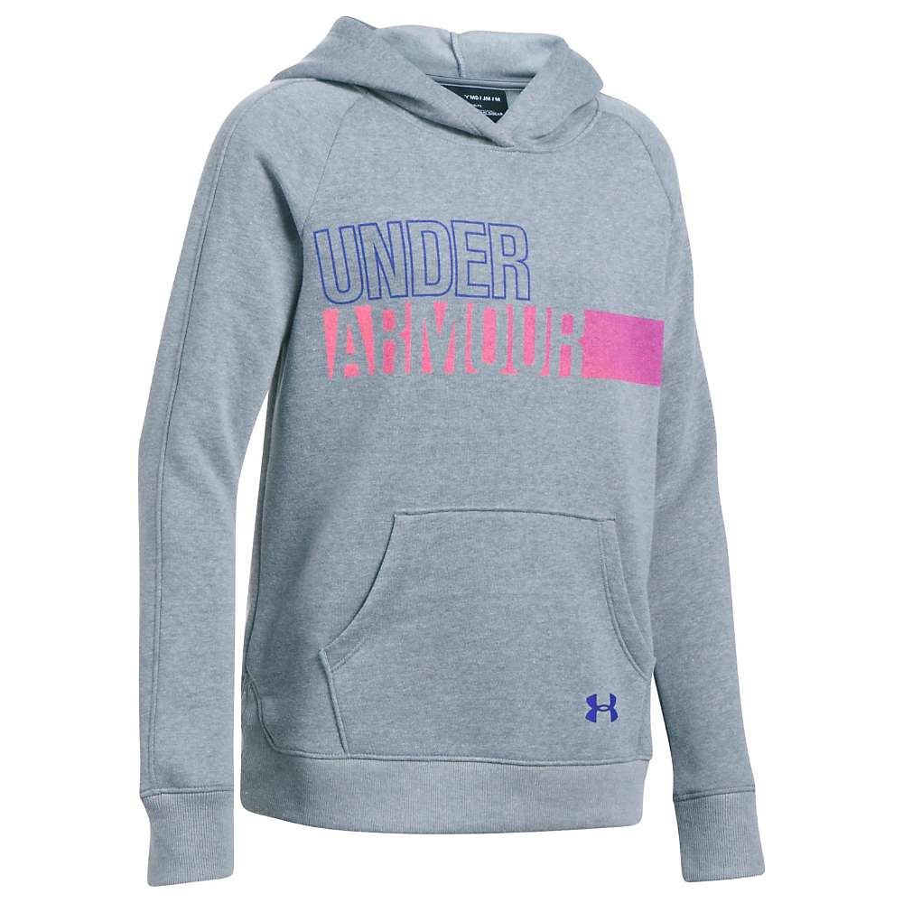 Under Armour Girls' UA Favorite Fleece Hoody - Large - Steel / Steel