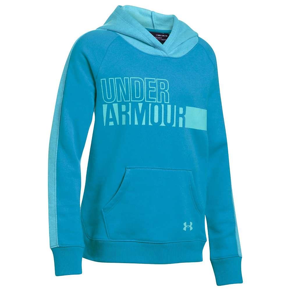 Under Armour Girls' UA Favorite Fleece Hoody - Small - Blue Shift / Blue Shift / Blue Infinity
