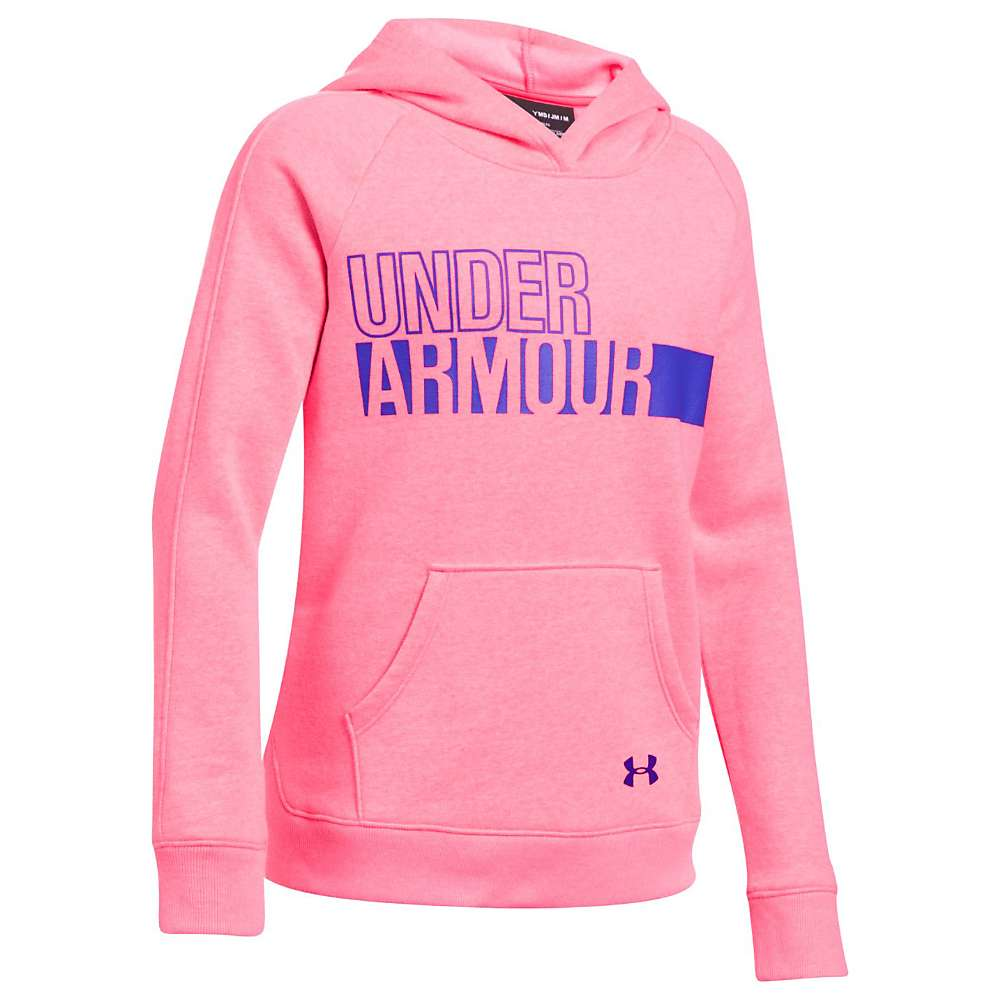 Under Armour Girls' UA Favorite Fleece Hoody - XL - Penta Pink / Penta Pink