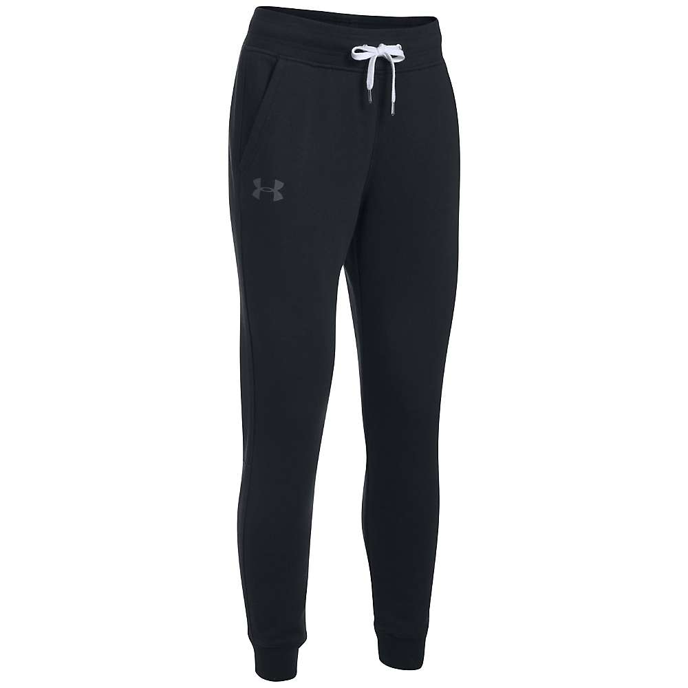 Under Armour Women's UA Favorite Fleece Pant - Medium - Black / Carbon Heather / Charcoal