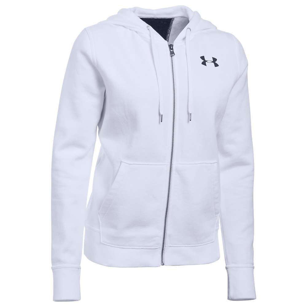 Under Armour Women's UA Favorite Fleece FZ Hoodie - Large - White / Black / White