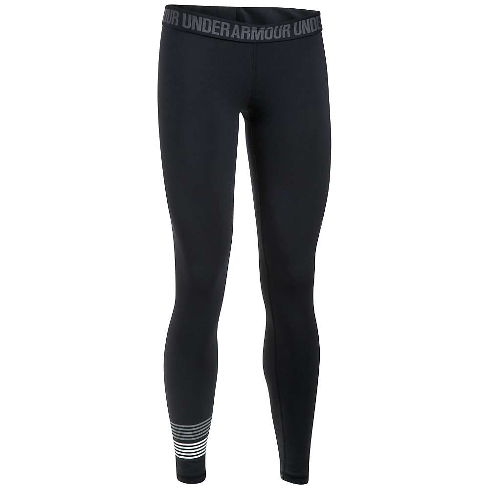 Under Armour Women's UA Favorite Graphic Legging - Large - Black / Steel / White
