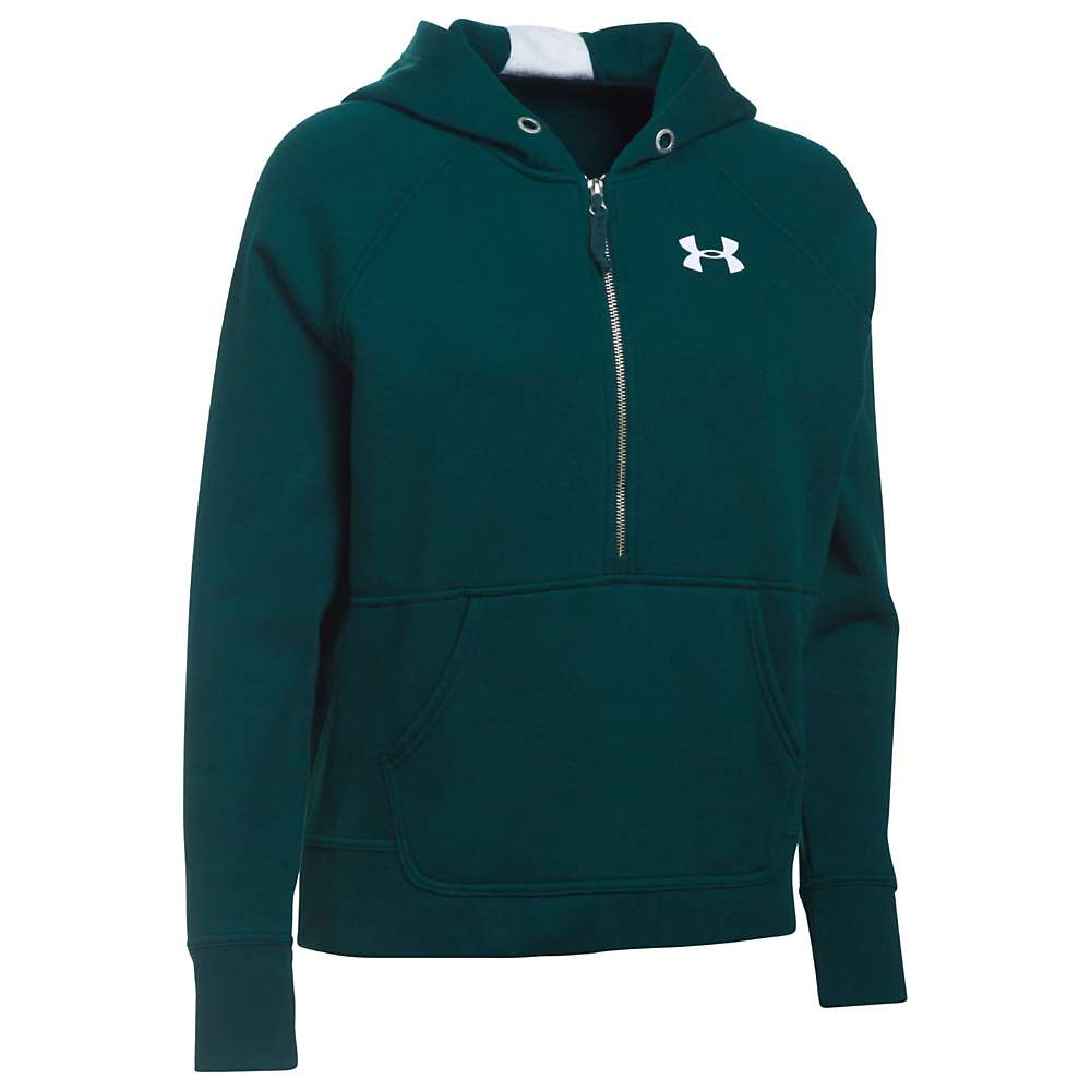 Under Armour Women's UA Favorite 1/2 Zip Fleece Hoodie - Small - Arden Green / White / Arden Green