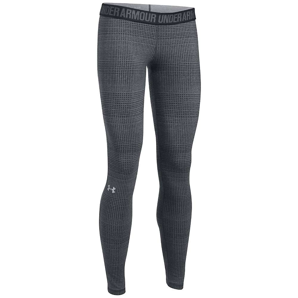 Under Armour Women's UA Favorite Printed Legging - Medium - Carbon Heather / Black / Metallic Silver
