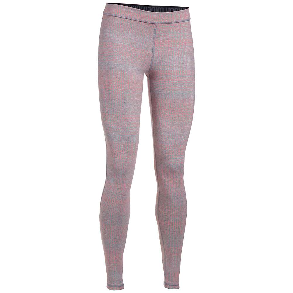 Under Armour Women's UA Favorite Printed Legging - Large - True Grey Heather / Cape Coral / Metallic Silver