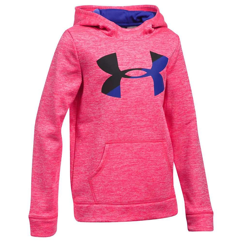 Under Armour Girls' UA Novelty AF Big Logo Hoody - Small - Penta Pink / Black