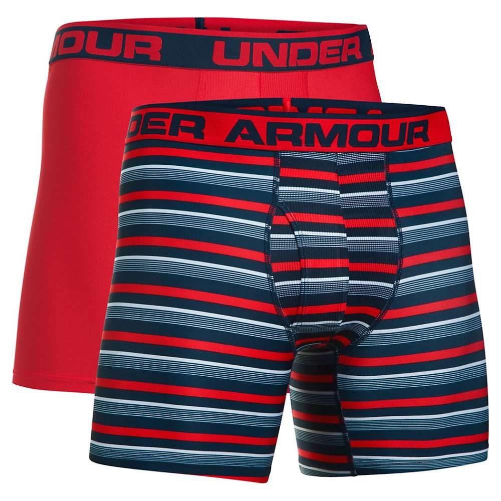 Under Armour Men's UA Original 6IN Novelty Boxerjock - 2 Pack - XXL - Academy / Red