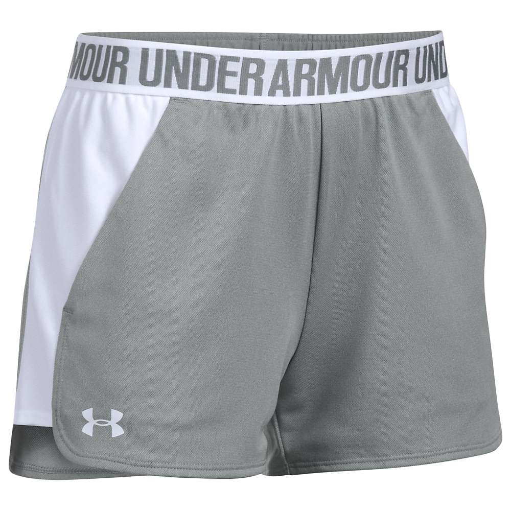 Under Armour Women's UA Play Up Short 2.0 - Medium - True Grey Heather / White / White