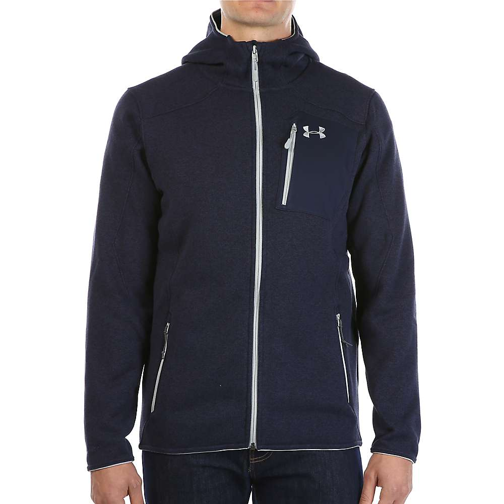 Under Armour Men's UA Specialist Hoodie - XL - Midnight Navy / Overcast Grey