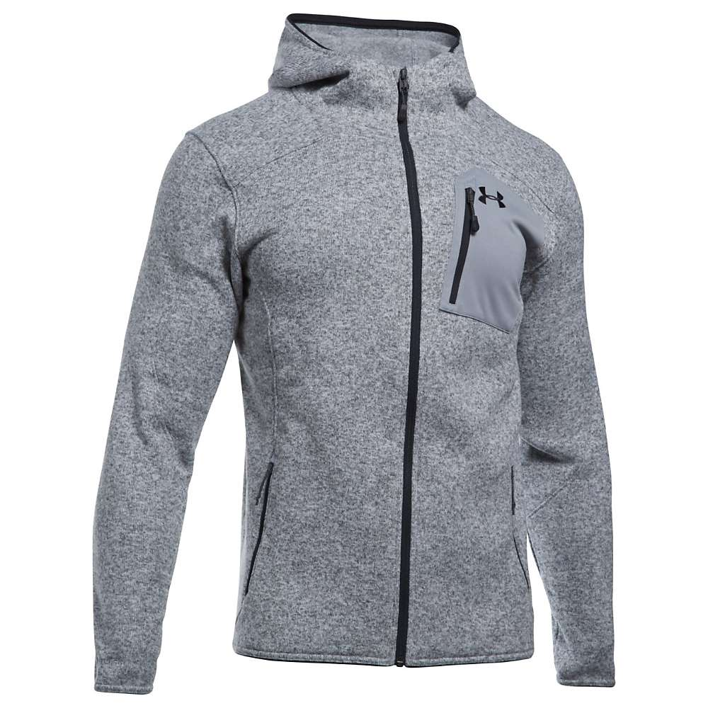 Under Armour Men's UA Specialist Hoodie - Medium - True Grey / Black