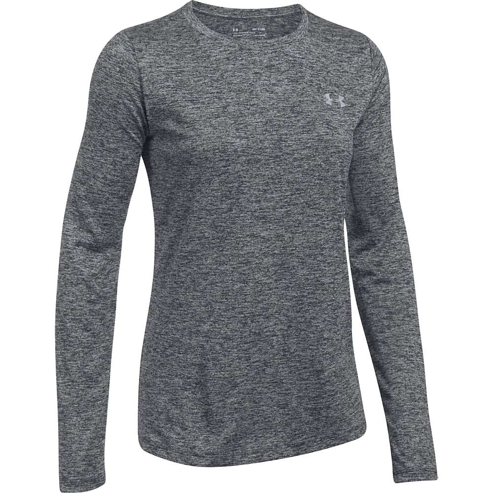 Under Armour Women's UA Tech LS Crew Twist Top - Large - Black / Metallic Silver