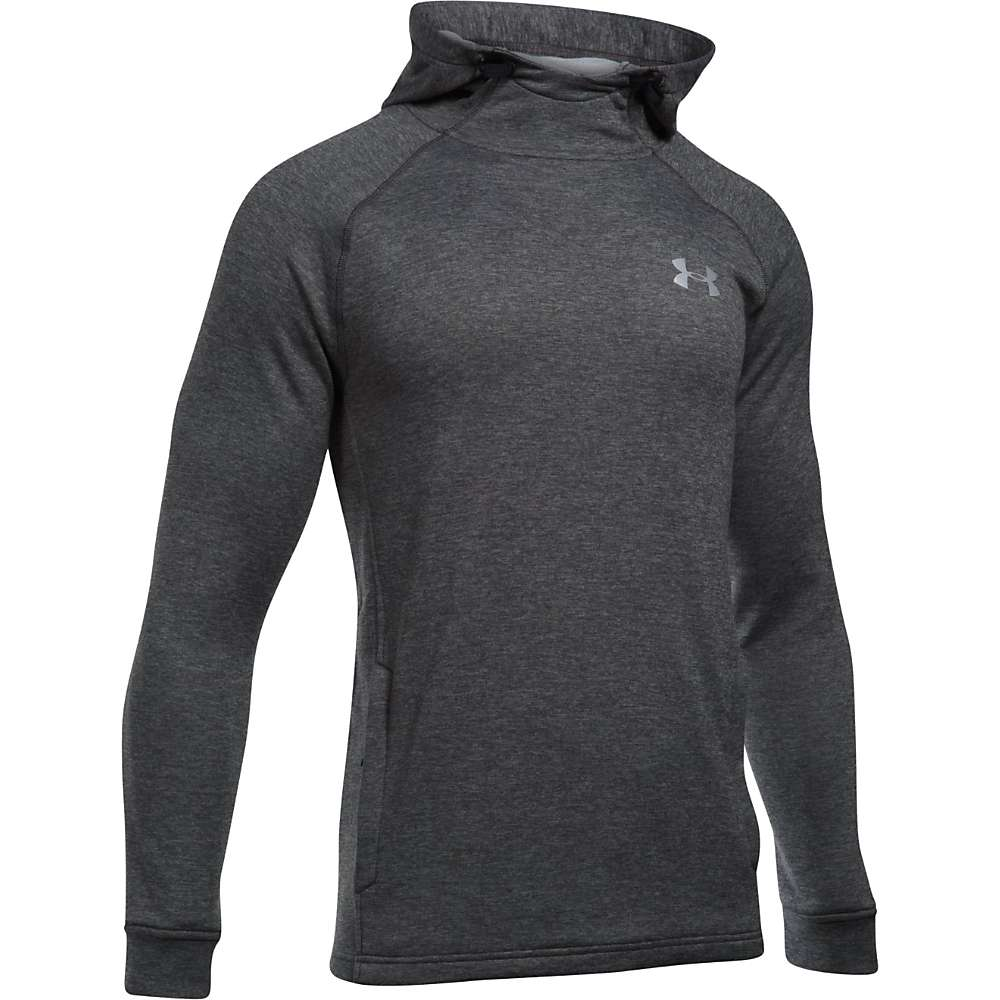 Under Armour Men's UA Tech Terry Fitted Popover Hoodie - Small - Carbon Heather