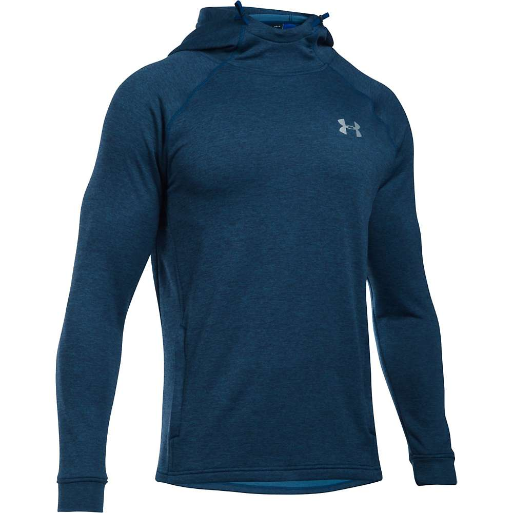 Under Armour Men's UA Tech Terry Fitted Popover Hoodie - Small - Blackout Navy Medium