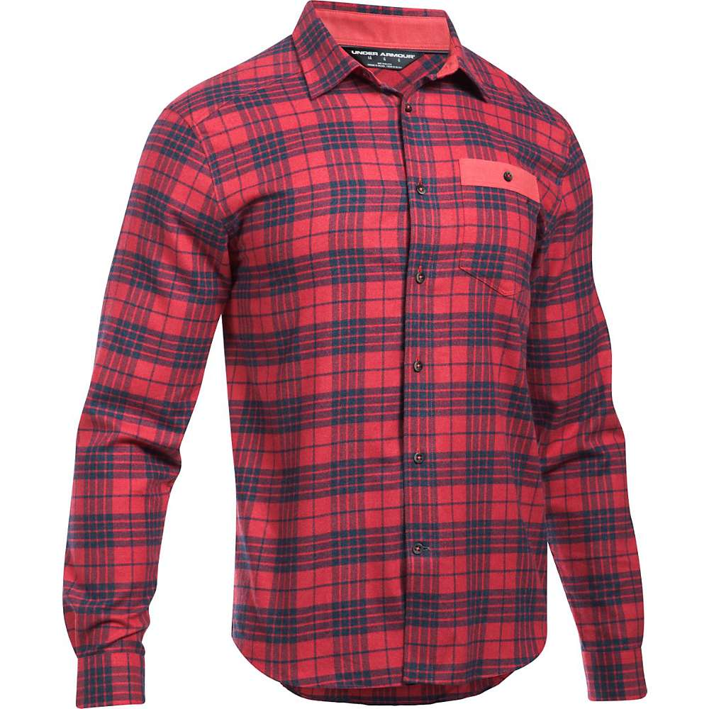 Under Armour Men's UA Tradesman Lightweight Flannel Shirt - Large - Red / Red