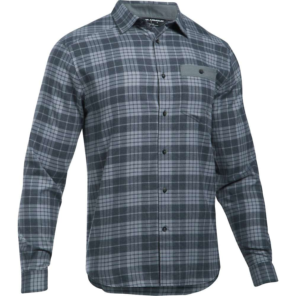 Under Armour Men's UA Tradesman Lightweight Flannel Shirt - XL - Stealth Grey / Stealth Grey