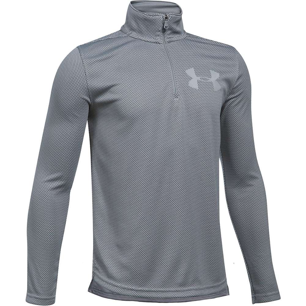 Under Armour Boys' UA Textured Tech 1/4 Zip Top - Small - Graphite / Steel