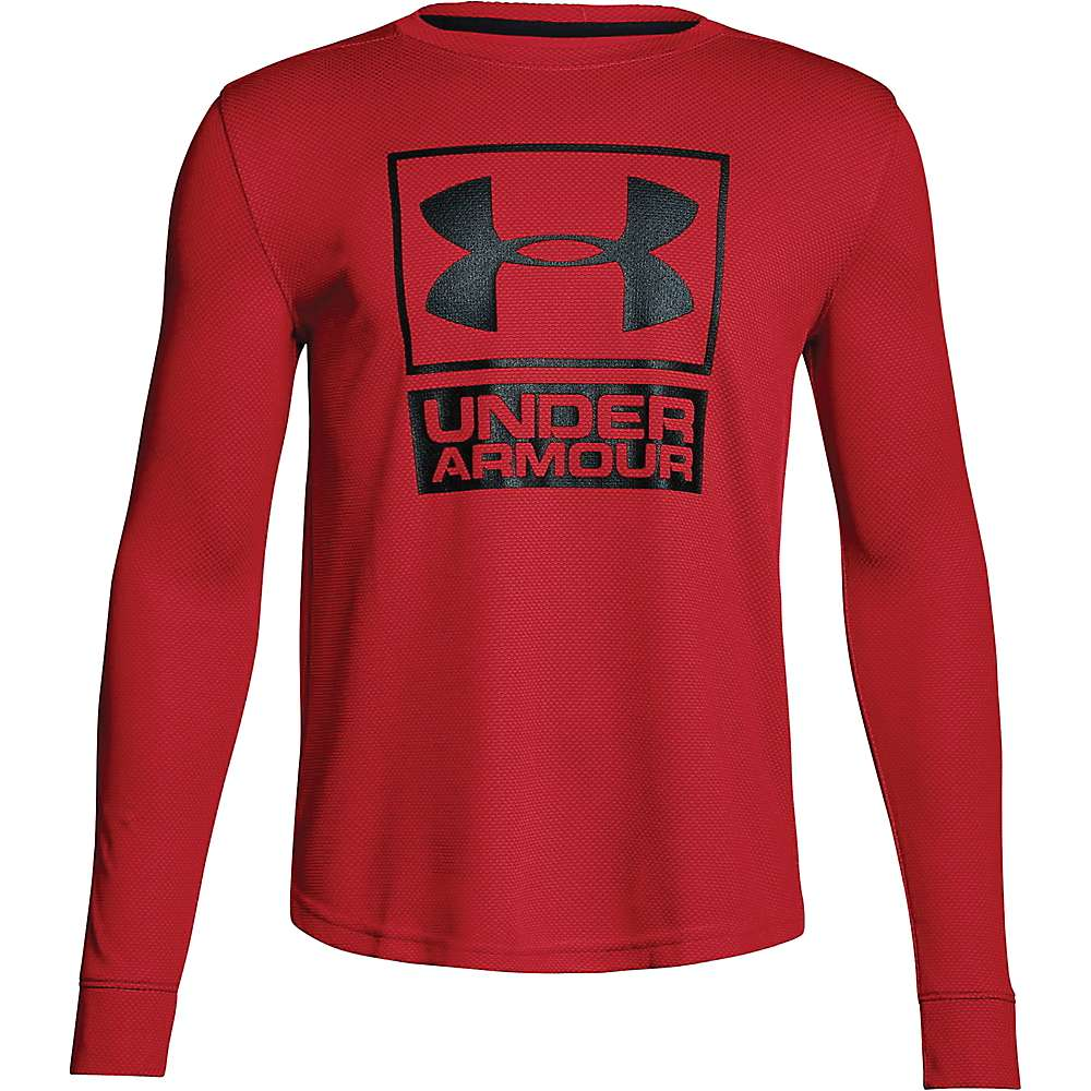 Under Armour Boys' UA Textured Tech Crew Neck Top - XL - Red / Red / Black