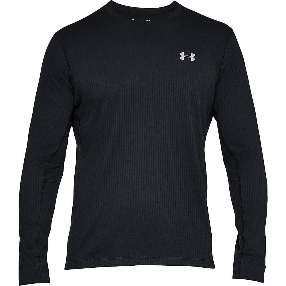Under Armour Men's UA Wool Waffle Crew Neck Top - Large - Black / Overcast Grey