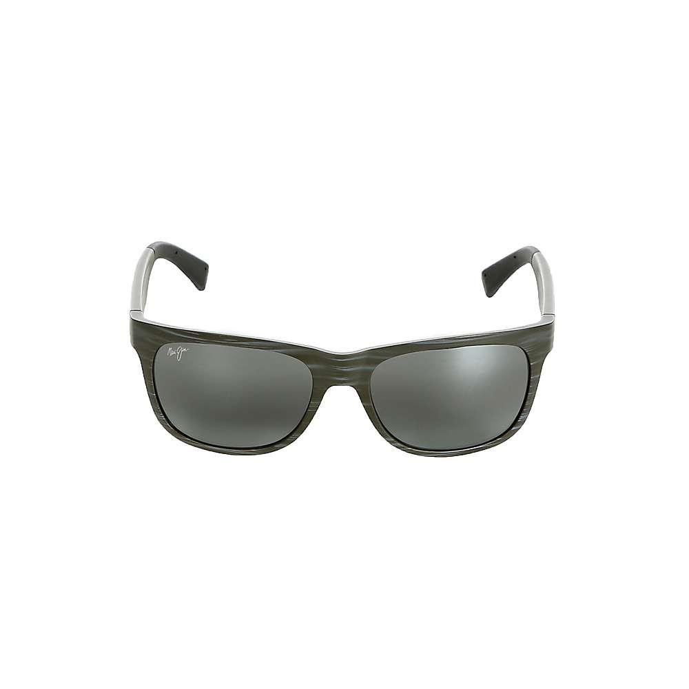 Maui Jim Kahi Polarized Sunglasses - One Size - Matte Aquamarine Wood Grain / Neutral Grey