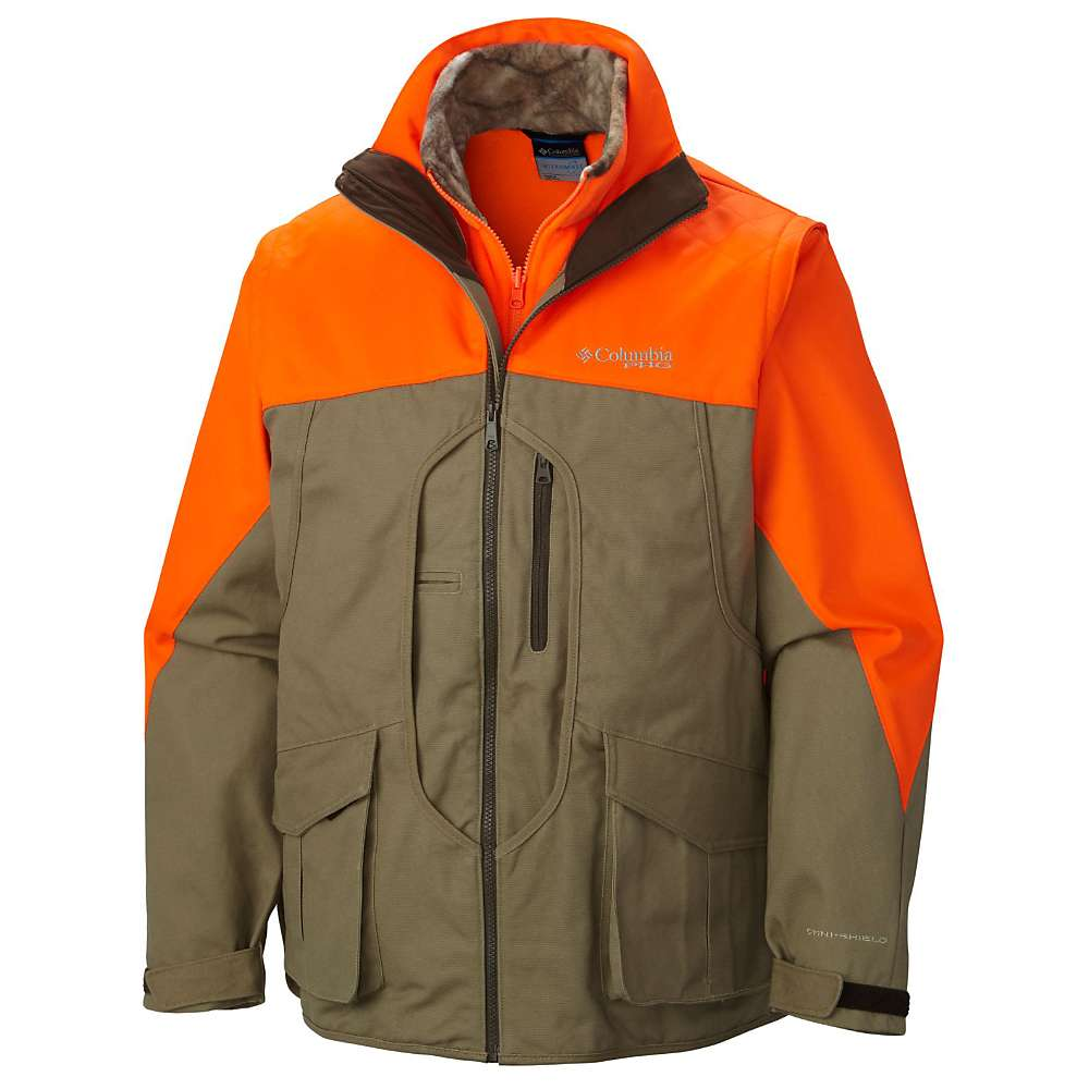 Columbia Men's Ptarmigan Interchange Parka – Small – Flax / Blaze