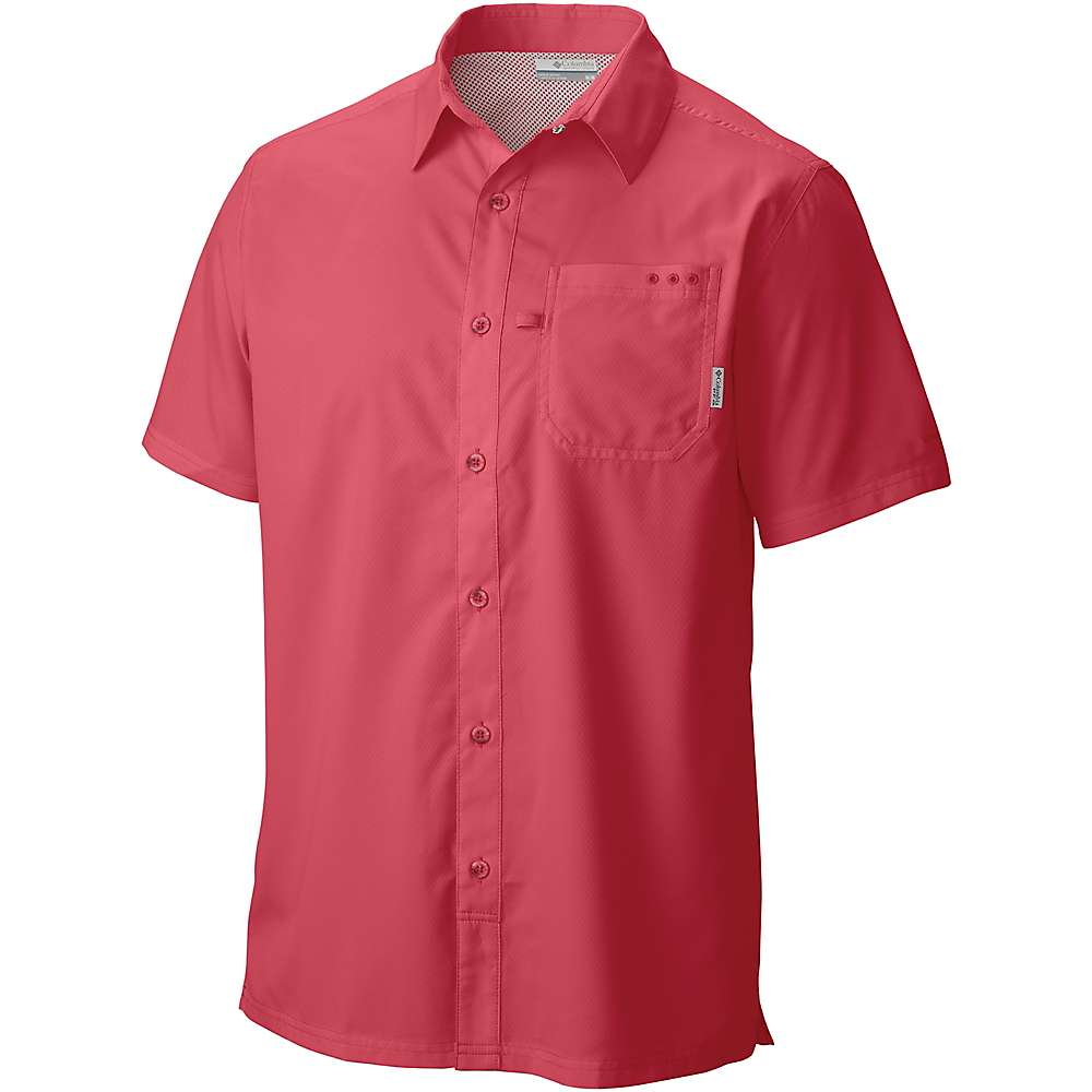 Columbia Men's Slack Tide Camp Shirt - Large - Sunset Red