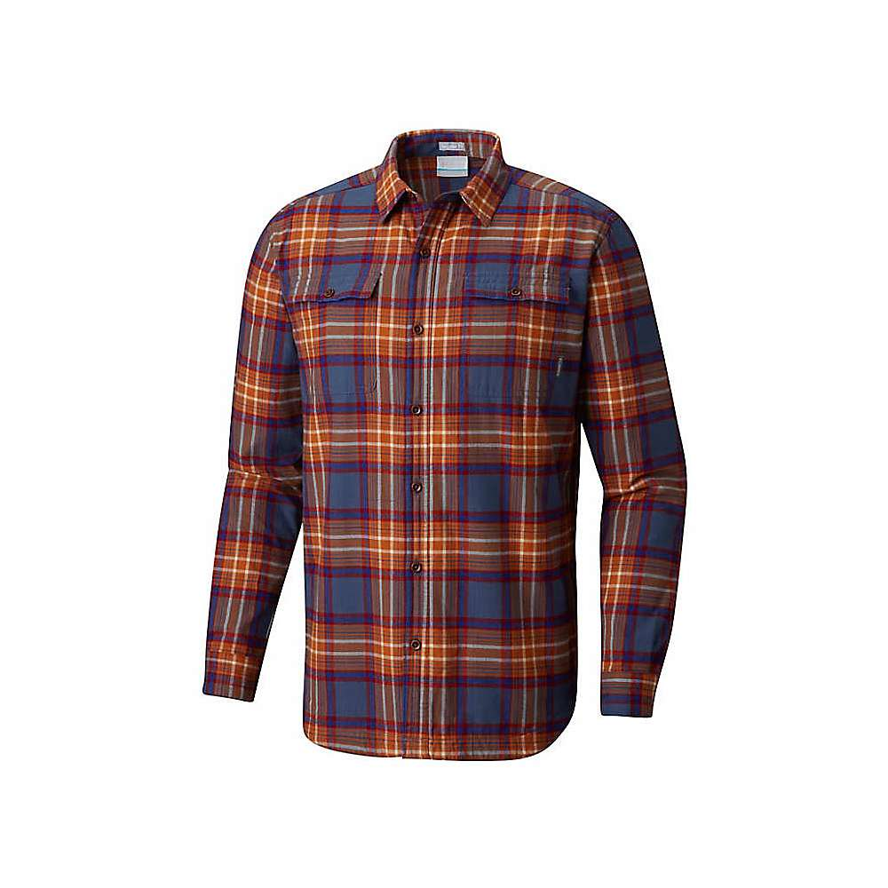 d977a12f Columbia Men's Flare Gun Waffle Lined Flannel II Shirt - Small - Dark  Mountain Check