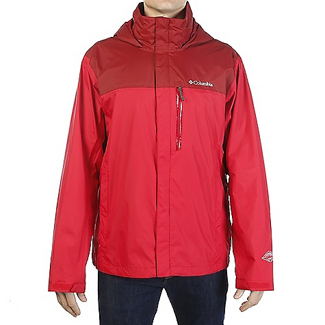 Click here for Columbia Mens Pouration Jacket Mountain Red/red El... prices