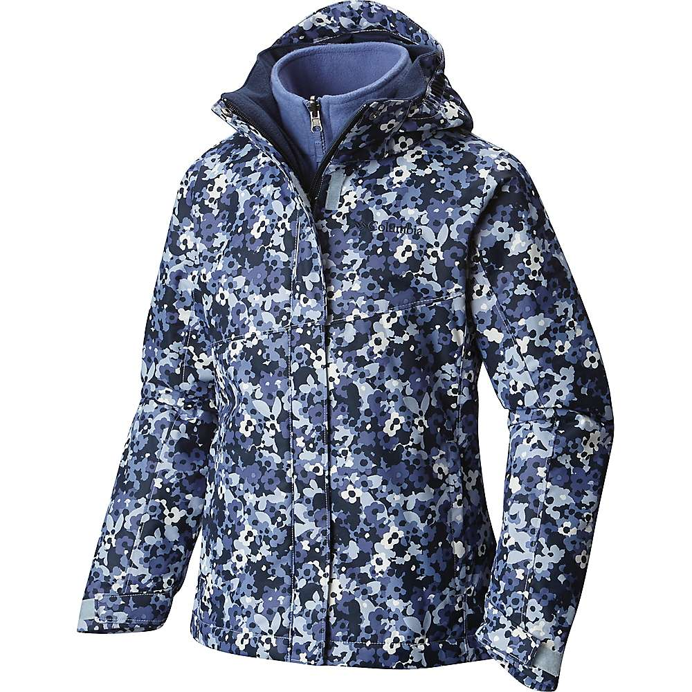 Columbia Youth Girls' Bugaboo Interchange Jacket - XL - Faded Sky Floral Camo / Collegiate Navy