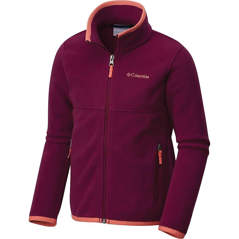 Columbia Youth Fuller Ridge 2.0 Full Zip Fleece Jacket - Large - Dark Raspberry