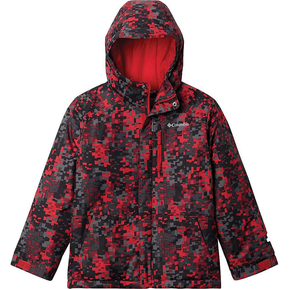 Reviews Columbia Toddler Boys Lightning Lift Jacket - 2T - Mountain Red Weave Print