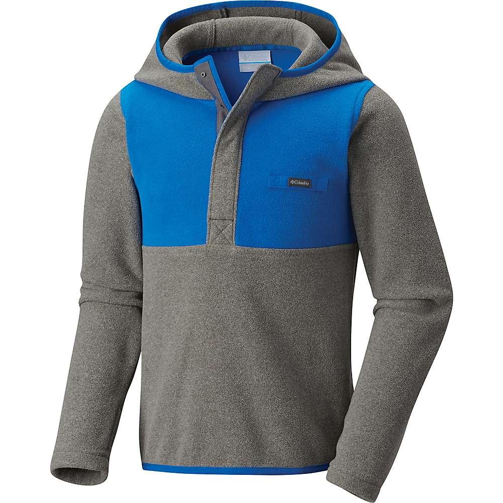 Columbia Youth Mountain Side Fleece Hoodie - XL - Charcoal Heather / Super Blue