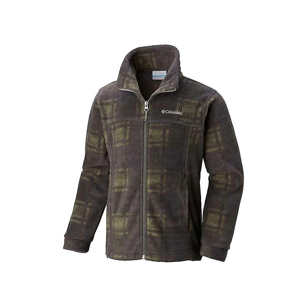 Columbia Youth Boys' Zing III Fleece Jacket – XS – Cypress Camo Plaid