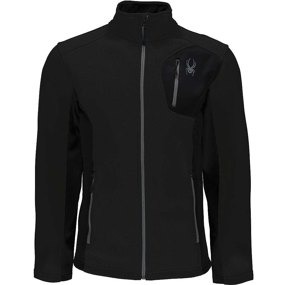 Spyder Men's Bandit Full Zip Lt Wt Jacket - XXL - Black / Black
