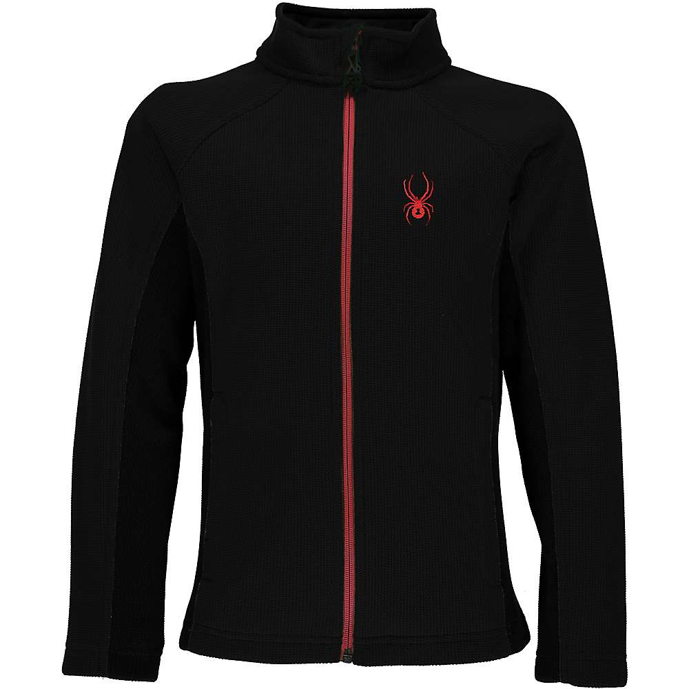 Spyder Boys' Constant Full Zip Jacket - Large - Black / Red