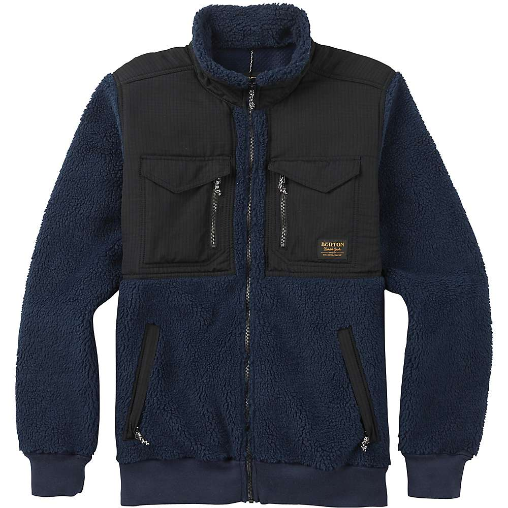 Burton Men's Bower Full-Zip Fleece Jacket - Small - Mood Indigo