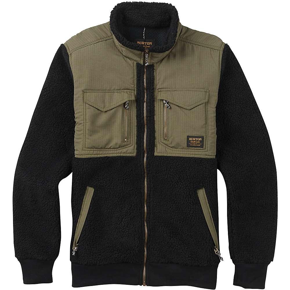 Burton Men's Bower Full-Zip Fleece Jacket - Medium - True Black