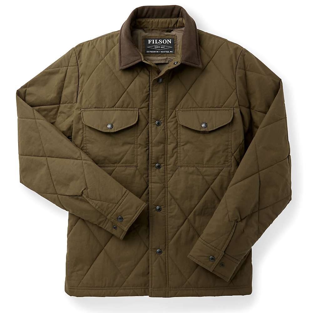 Compare Filson Mens Hyder Quilted Jac-Shirt - XXL - Marsh Olive