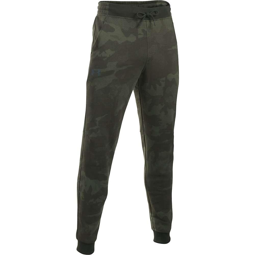 Under Armour Men's Rival Cotton Novelty Jogger Pant - XL - Artillery Green / Black