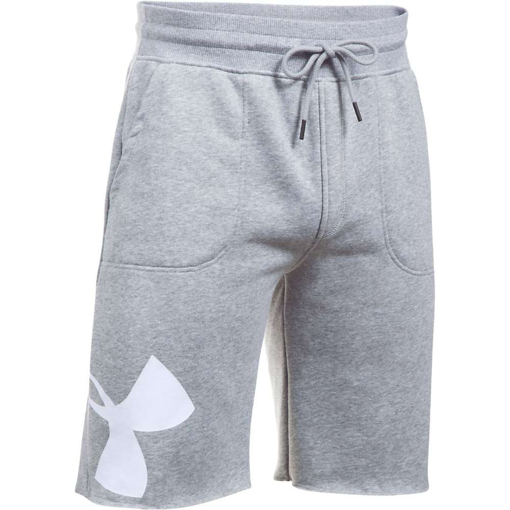 Under Armour Men's Rival Exploded Graphic Short - Large - True Grey Heather / White