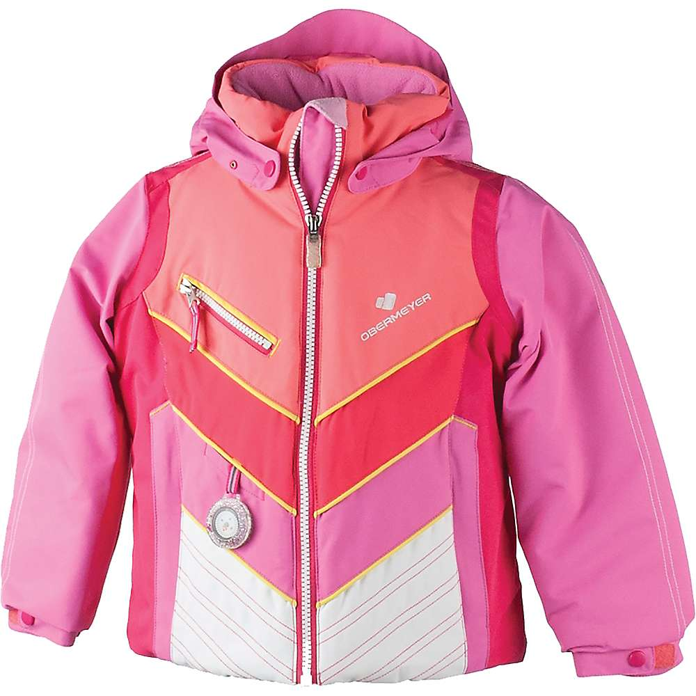 Obermeyer Girl's Sierra Jacket - 4 Regular - Peony Pink