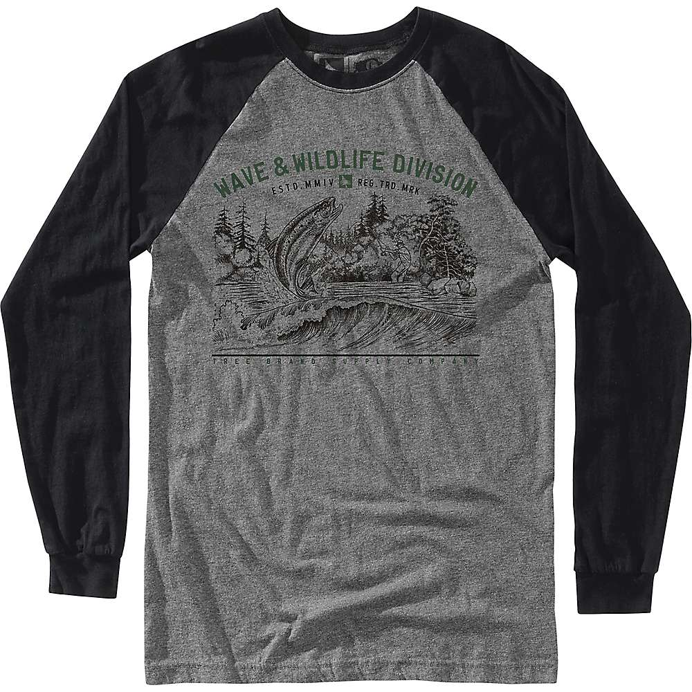 HippyTree Men's Bait LS Tee - Large - Heather Grey