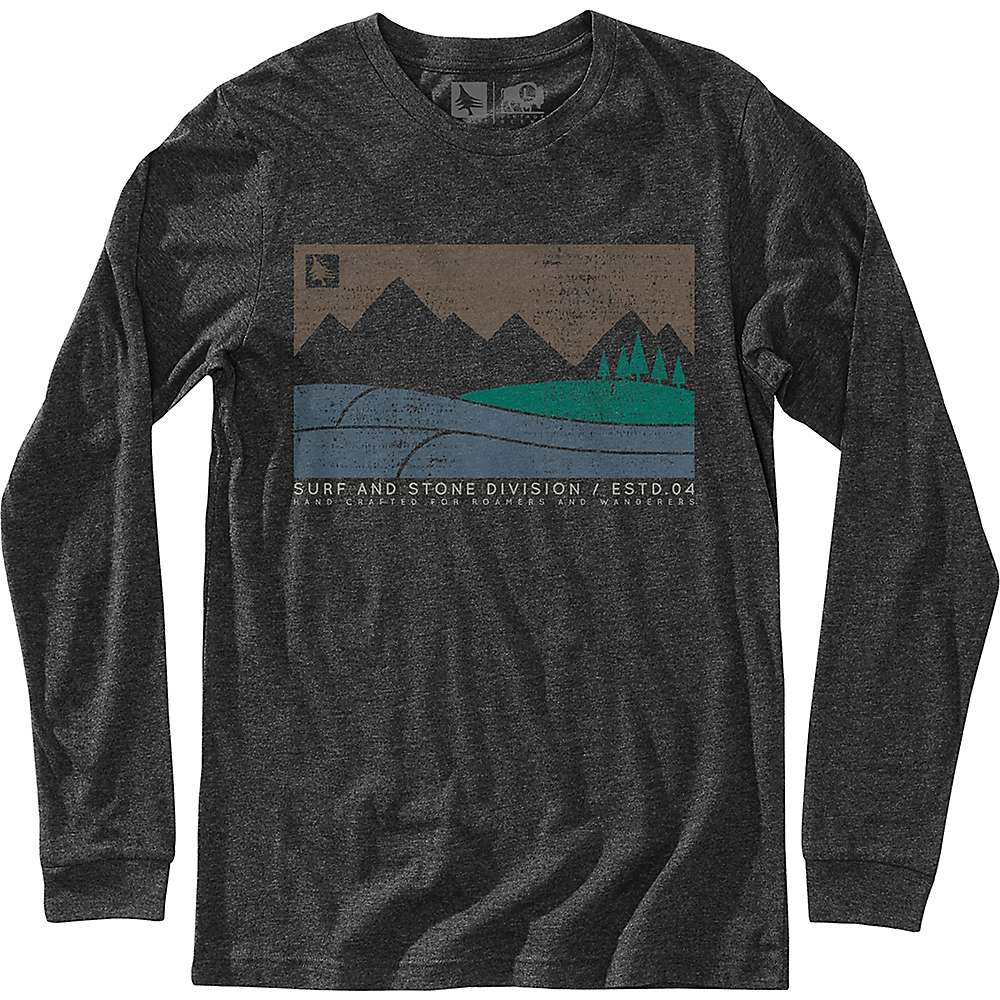 HippyTree Men's Boundary LS Tee - XL - Heather Charcoal