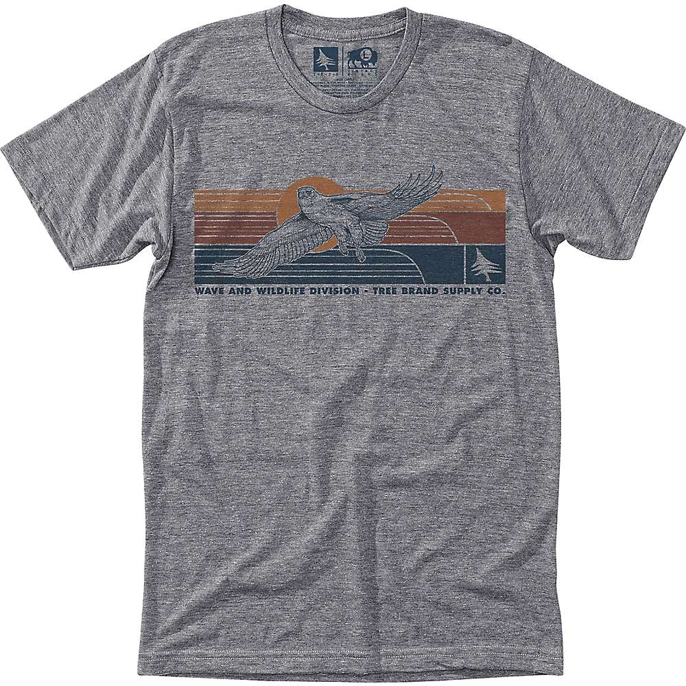 HippyTree Men's Freedom Tee - Medium - Heather Grey