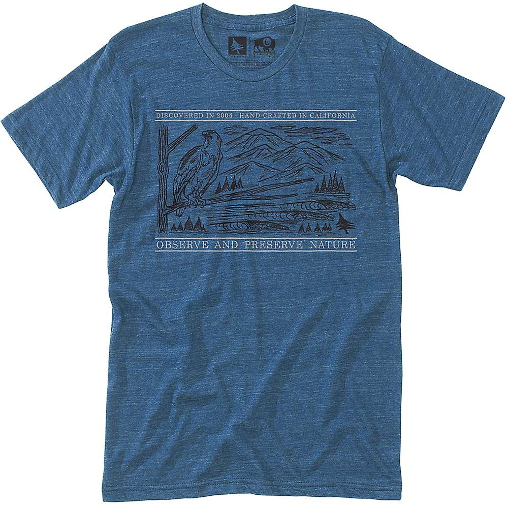 HippyTree Men's Frontier Tee - Medium - Heather Navy