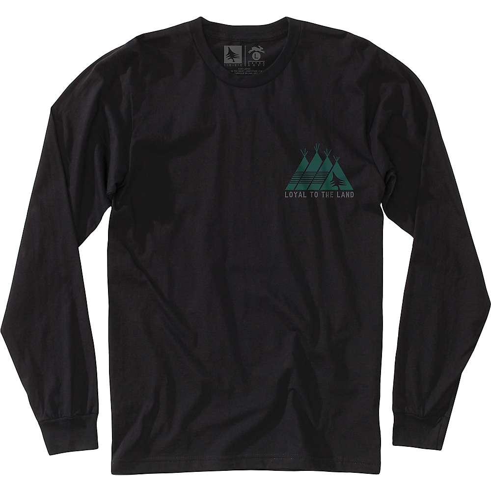 HippyTree Men's Plains LS Tee - Large - Black