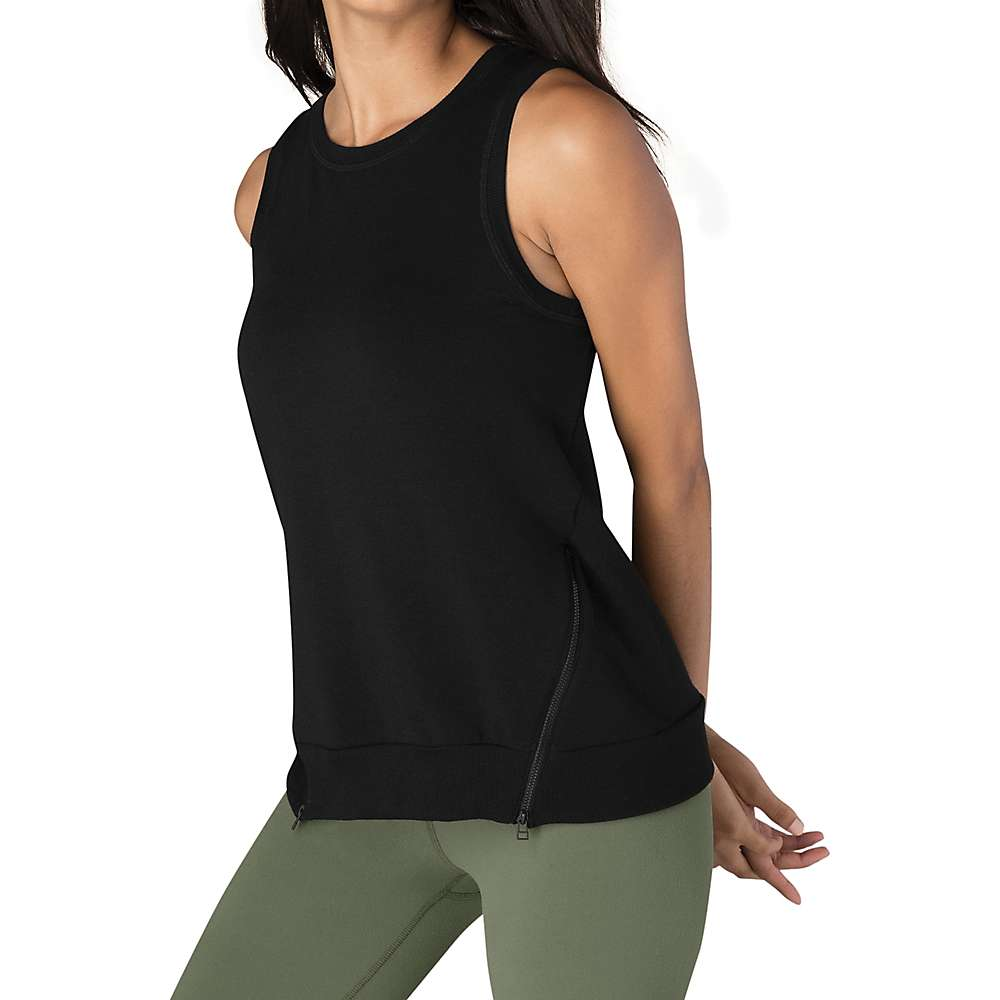 Beyond Yoga Women's Zip By Split Tank Top - Small - Black