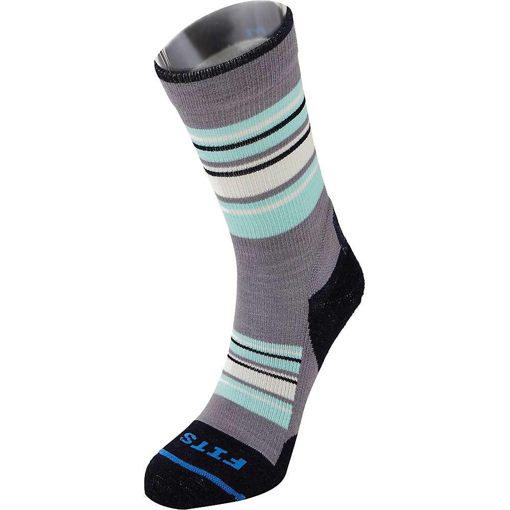 Fits Men's Light Hiker Crew Sock - Large - Titanium/Navy